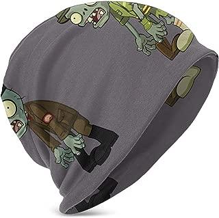 MasakoJMassie Hallonween Plants Vs. Zombies Kids Knit Hat Cuffed Thin Bonnet Cap Autumn Unisex Casual Cotton Beanies Black