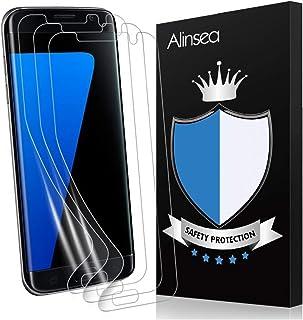 Galaxy S7 Edgeフィルム Alinsea Galaxy S7 Edge 保護フィルム 全面保護 気泡レス 超薄 高透過率 耐衝撃 Samsung Galaxy S7 Edge 対応 (TPU保護フィルム3枚, クリア)