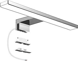 Aourow Lampe Miroir Salle de Bain LED 5W 230V 500lm,IP44 Etanche 30cm Pince Luminaire Salle de Bain,Blanc Neutre 4000K,Pas...