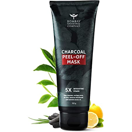Bombay Shaving Company Activated Charcoal Peel Off Mask with 5X Detoxifying Power, fights pollution and De-Tans skin- 100g