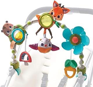 Tiny Love Spielbogen Musical Nature Stroll, Into the Forest, mit Rasselspielzeug, nutzbar ab der Geburt 0M, Der verstellbare Clip passt auf die meisten Kinderwagen