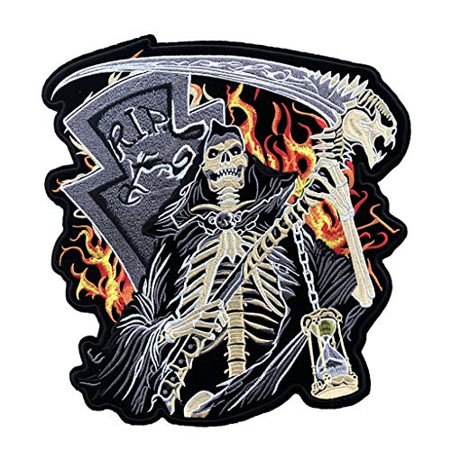 ECUSSON PATCHE  THERMOCOLLANT PATCH GIRL BLACK SKULL