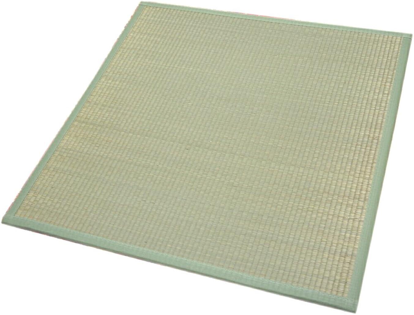 フリンジ優雅ユニット畳82x82cm:半畳サイズ12枚セット:約6畳用(246x328cm) 【不織布貼、スベリ止め加工、木製ボード使用】