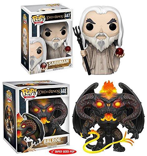 Funko POP! El Señor de los Anillos: Saruman + Balrog