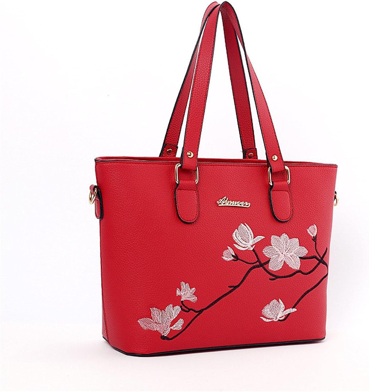 Weiblicher Beutel-Flut-Taschen-weiblicher OL Pendler-Stereotype-Handtaschen-Umhängetasche-Schulter-Beutel rot rot rot B07FQNP444  eine breite Palette von Produkten 22ffed