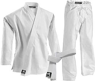 Zephyr Martial Arts K-Pro 14 oz. Karate Gi Student Uniform with Belt - White