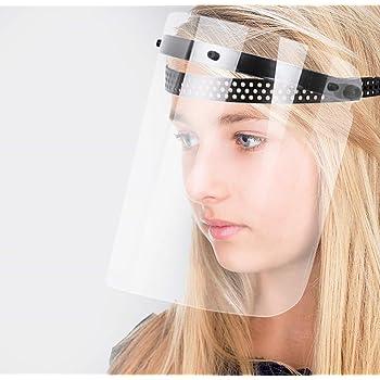 Blu Exceart Plastica Trasparente Visiera Facciale Anti-Nebbia Maschera da Cucina Occhiali Antispruzzo Occhiali Protettivi Maschera Protettiva per Uso Quotidiano in Laboratorio Lavoro