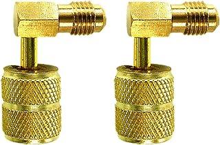 Nrpfell 2 Piezas R410A 1/4 SAE a 5/16 Pulgadas Adaptador de Conector de RefrigeracióN Adaptador para R410A Manguera de Medidores Conector de Aire Acondicionado