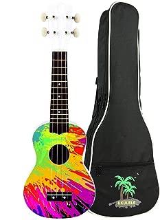 zimo 21 Inch Ukulele Kit Soprano Ukulele 4 String Hawaii Concert Ukulele with Carrying Gig Bag