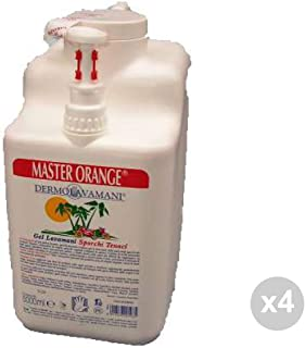 Kroll Set 4 Soap Master Orange Gel c/Dispenser lt. 5/kg. 5.40 Hand Cleaners, Multicoloured, Single