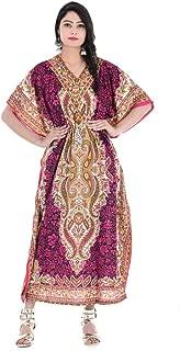Crocon Women Long Maxi Cover Up Ethnic Print Kaftan Beach Maxi Dress Caftan Women Plus Size Swimwear
