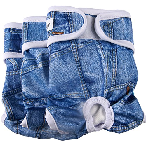 Denim Washable Dog Diapers