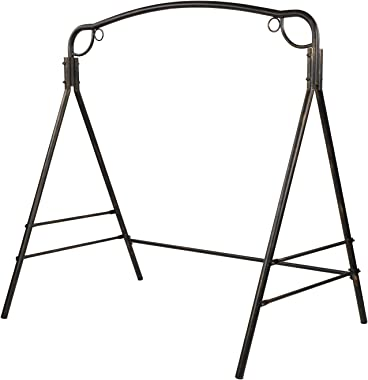 VINGLI Upgraded Metal Porch Swing Stand with Antique Bronze Finish, Heavy Duty 800 LBS Weight Capacity Steel Swing Frame with