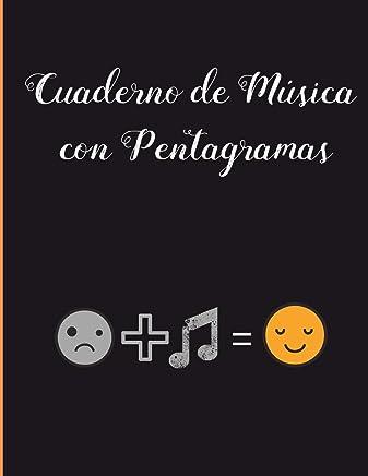 CUADERNO DE MUSICA CON PENTAGRAMAS: Con Página de Apoyo Lineada. A4. Registro de