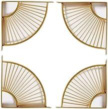 SUNEVEN 2 paar metalen ambachtelijke beugel plank rek muur opknoping decoratie sector beugel moderne ijzeren kunst standaa...