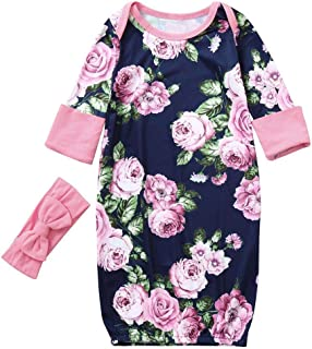 Lurryly Newborn Infant Baby Girls Summer Bowknot Dot Rompers Outfits Clothes 0-18 M