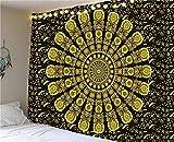 Tapiz de Mandala indio montado en la pared tapiz bohemio fondo de...