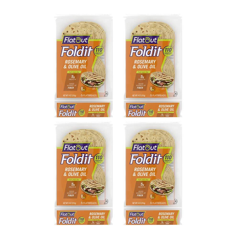 Flatout Foldit Rosemary Olive Oil 6 Great interest online shopping 4 Foldits of Packs
