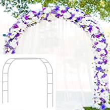 Metal Garden Arbor Wedding Arch 76.8 inch H x 90.5 inch W 94.5 inch H x 55 inch W Assemble Freely 2 Sizes for Various Clim...