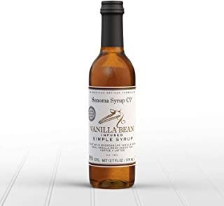 Sonoma Syrup Co Vanilla Bean Simple Syrup, 12.7 oz for Coffee, Cocktails, and Cooking