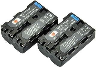DSTE 2-Pieza Repuesto Batería Compatible con NP-FM500H A77 A200 A300 A300K A300X A350 A350H A350K A350X A450 A500 A550 A560 A580 A700 A700K A700P A700Z A850 A900 A900 ILCA-77M2 SLT-A99 Alpha A99 II