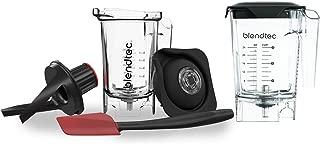 Blendtec Mini WildSide+ (46 oz) and Twister Jar (37 oz) BUNDLE - Professional-Grade Blender Jar - BPA-free - Clear