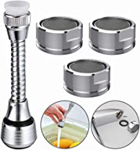 Tap Aerators,BESTZY 4 Pcs Tap Aerator Swivel and Faucet Aerator 24mm 360°Swivel Adjustable Filter Accessories for Kitchen Bathroom
