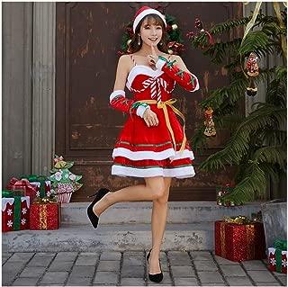 VDGHA Niñas Señorita Elf Vacaciones Mujeres del Traje de Navidad del Vestido de Santa Claus Ropa Cosplay Mujeres - Polo Norte Novedad Patinaje Artístico Ballet Danza (Size : L)