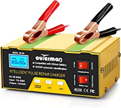 Outerman Car Battery Chargers 12V 24V Lithium Motorcycle Battery Charger, Automatic Smart Battery Maintainer for Car Boat ...