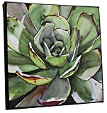 Green Succulent Painting on Canvas