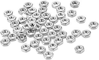uxcell Hex Nuts, M3x0.5mm Metric Coarse Thread Hexagon Nut, Stainless Steel 304, Pack of 50
