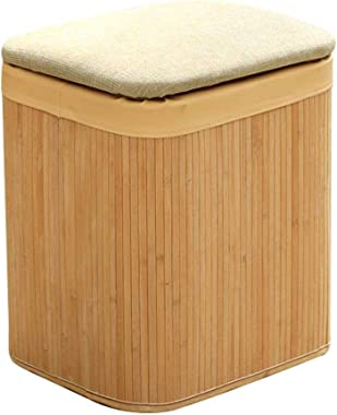 Ottomans Footstools Solid Wood Shoes Bench Nasal Stool Multi-Function Storage Stool Can sit on a Rectangular Ottoman Sofa Sto