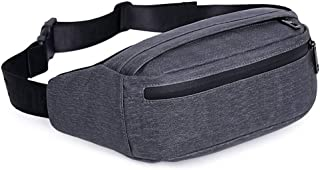 Fanny Pack for Men and Women, Waist Pack Belt Bags with Adjustable Strap Water Resistant (Grey)