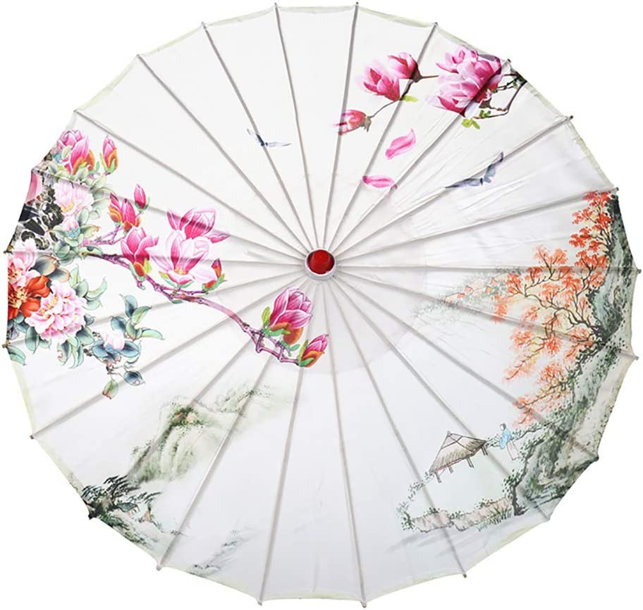 Ranking TOP7 Decorative Umbrellas Popular product Chinese Style Peony Floral Wooden Han Print
