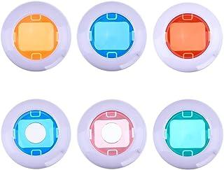 Filtros de colores para lente de primer plano para cámaras instantáneas Fujifilm Instax Mini 8 / 8+ / 9 / 7S / KT 6unidades