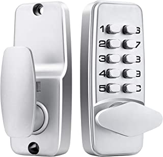 Keyless Entry Door Lock Deadbolt with Keypads, 100% Mechanical Waterproof Front Combination Key Code Door Locks, Digital Keypad Door Knob Deadbolt Lock for Door, Easy to Install, No Electronic