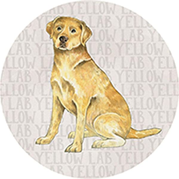 CAR COASTER Single 1 Absorbent Stone Coasters For Cup Holders YELLOW LAB