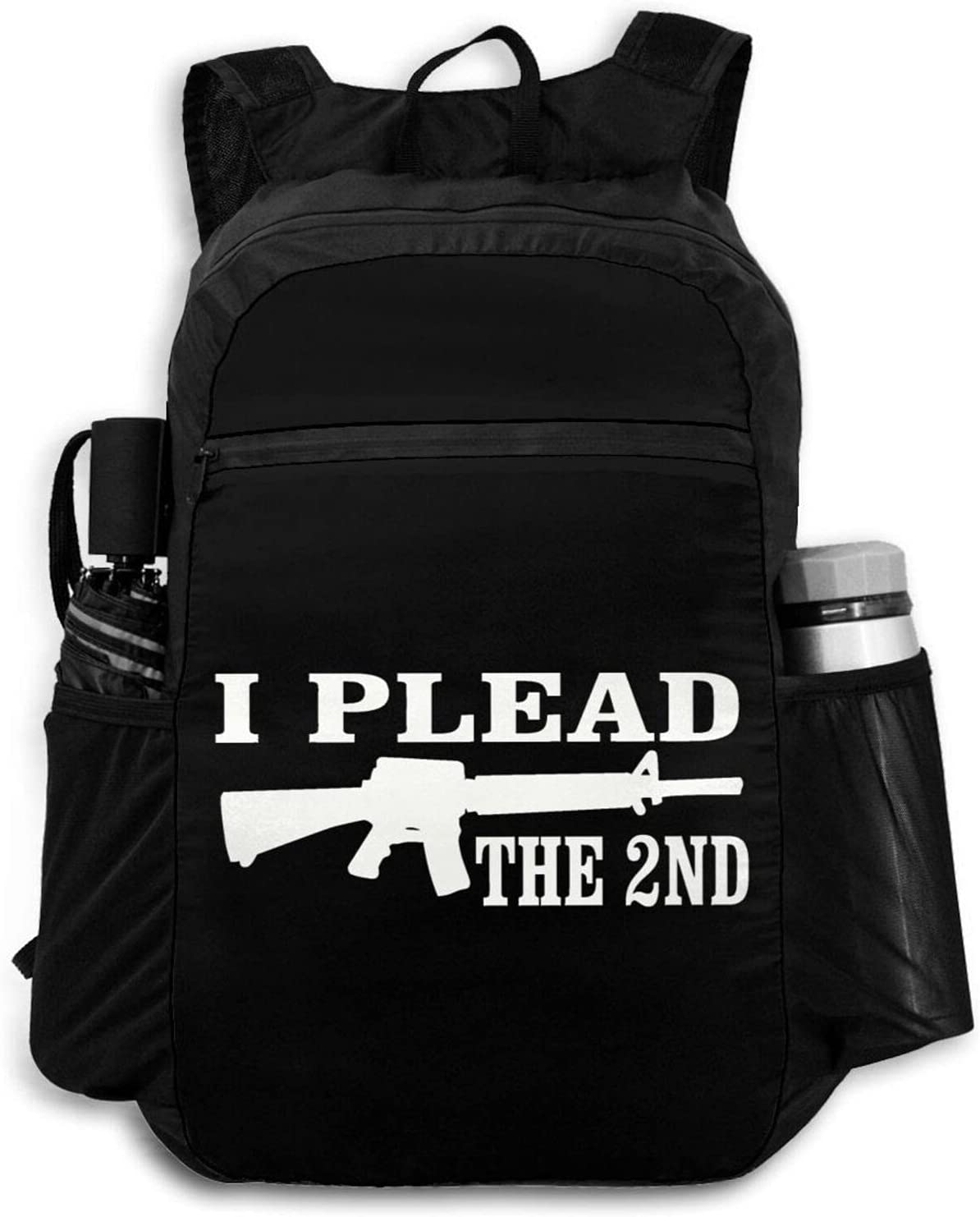 Zolama I Plead The 2ND Backpacks Men New product!! Women Packable specialty shop for Day Cute