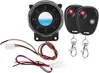 Suuonee Motorcycle Alarm,105-125dB Motorcycle Remote Control Alarm Horn Anti-Theft Security System