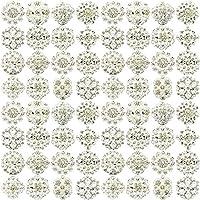 Nuevo 36 piezas de mezcla de plata broche de la flor broche de brillantes broches de novia de la boda JOBLOT mucho para hacer imestore