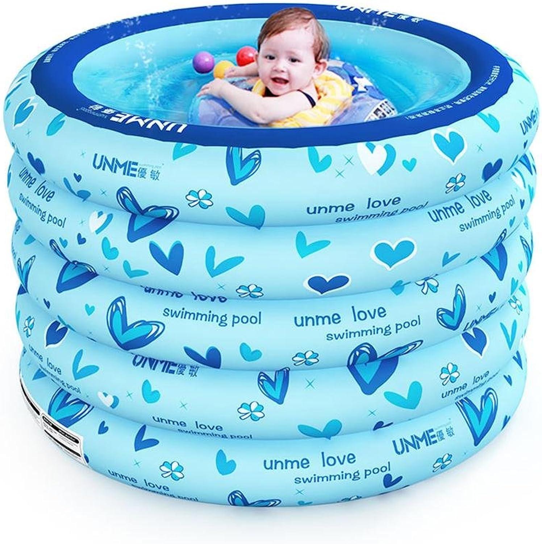 Kinderschwimmbad Verdickung Schlagzeug Baby aufblasbare Schwimmbad , Blau