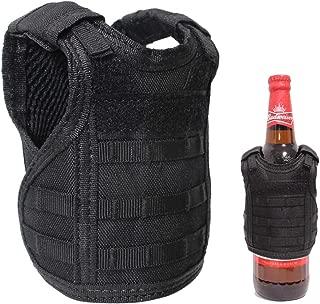 Wynex Tactical Beer Koozie Vest, Beer Bottle Koozie Holder, Adjustable Beverage Cooler Holder, Tactical Mini Vest Set, Can Coozie Keeper