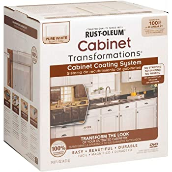 Rust Oleum 263232 Cabinet Transformations Small Kit Pure White House Paint Amazon Com