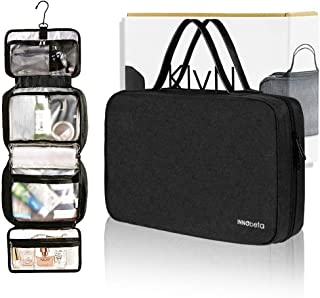 INNObeta KlyN Hanging Travel Toiletry bag for men & women, cosmetic Bag, Leak Proof Toiletry Kit with Mesh Pockets, travel accessories for business trip,outdoor,camping,beach(black)