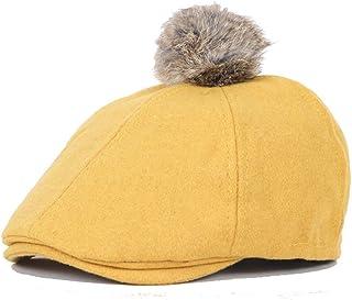 Wool Blend Newsboy Cap Solid Flat Cap Hair Ball Duckbill Ivy Irish Cabbie  Caps 13441ab83ca1