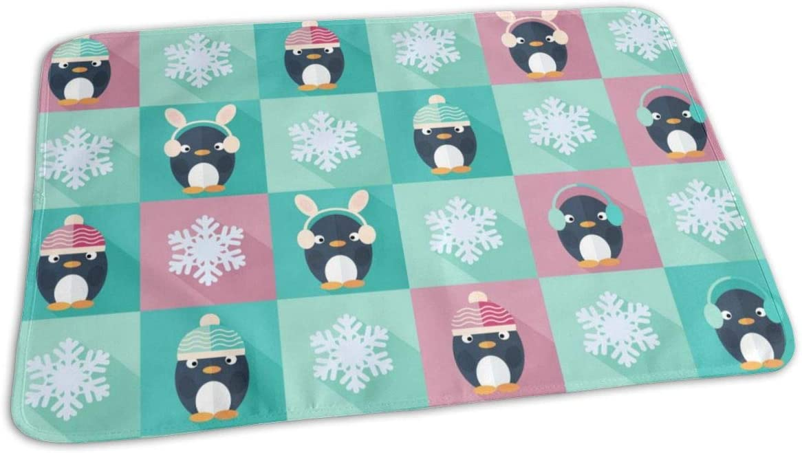 UAJAR Childish Penguins Classic and Snowflakes Pa Baby Reusable Changing Limited price sale