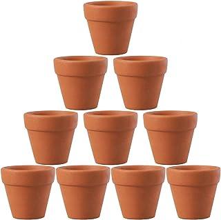 OUNONA 植木鉢 ミニ 陶器鉢 多肉植物ポット フラワーポット 陶器 おしゃれ 10個セット 4.5x4cm