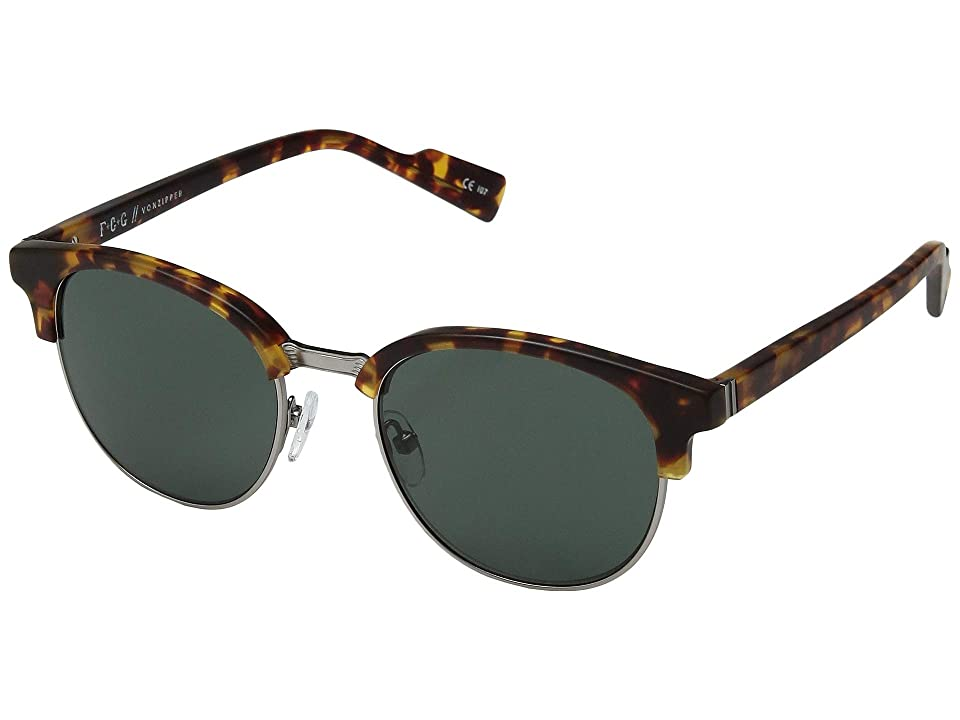 VonZipper Citadel (Tortoise Satin) Athletic Performance Sport Sunglasses