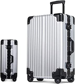 SMLCTY 20 Inch / 24 Inch Suitcases with Wheels Lightweight,ABS+PC,Scratch-resistant Matte,360° Rotating Universal Wheel Large Capacity Anti-Collision Travel Customs Password Suitcase