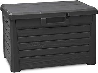 TOOMAX Coffre Compact Florida 120 L en plastique pour extérieur, 73 x 50,5 x 46,5 (H) cm, Art. 158 (Anthracite)